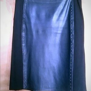 Whbm leather skirt